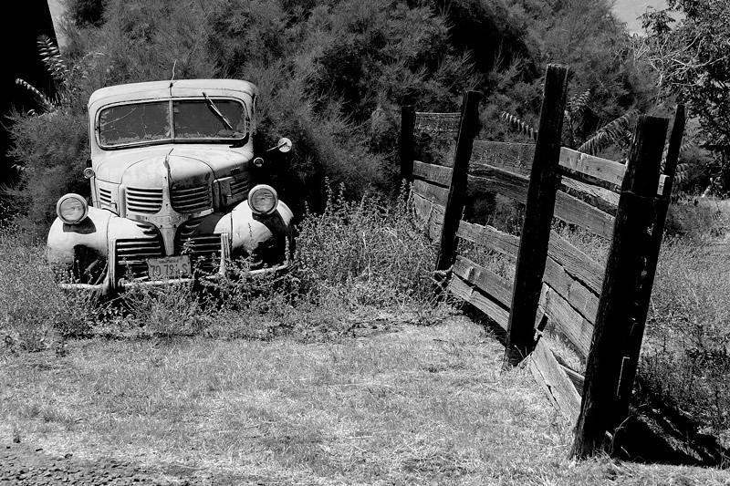 An abandoned car by the Black Diamond Mines Park, Antioch, California, USA.