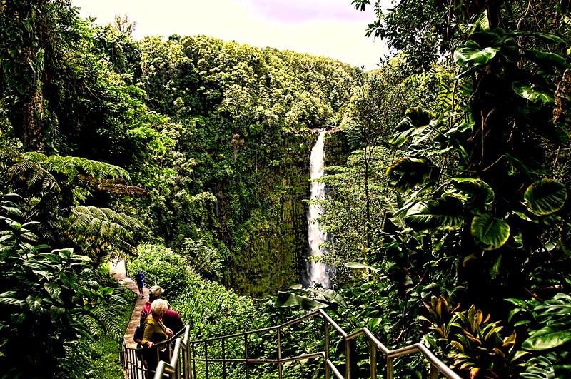 Akaka Falls State Park, Hilo, Big Island of Hawaii, Hawaii Island group.