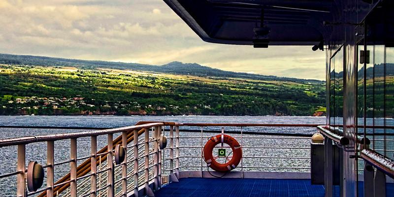 A view at Kahului Port, Maui Island, Hawaii Island group, USA.