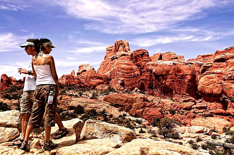 This was captured at the Fiery Furnace area of Arches National Park, Moab, Utah, USA.