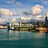Port of Honolulu, Oahu Island, Hawaii Island group, USA