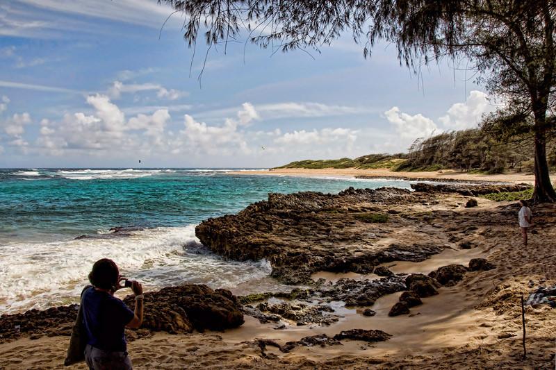 Another view of Mahaulepu Beach, an undevelop area of Kauai Island, Hawaii, USA.