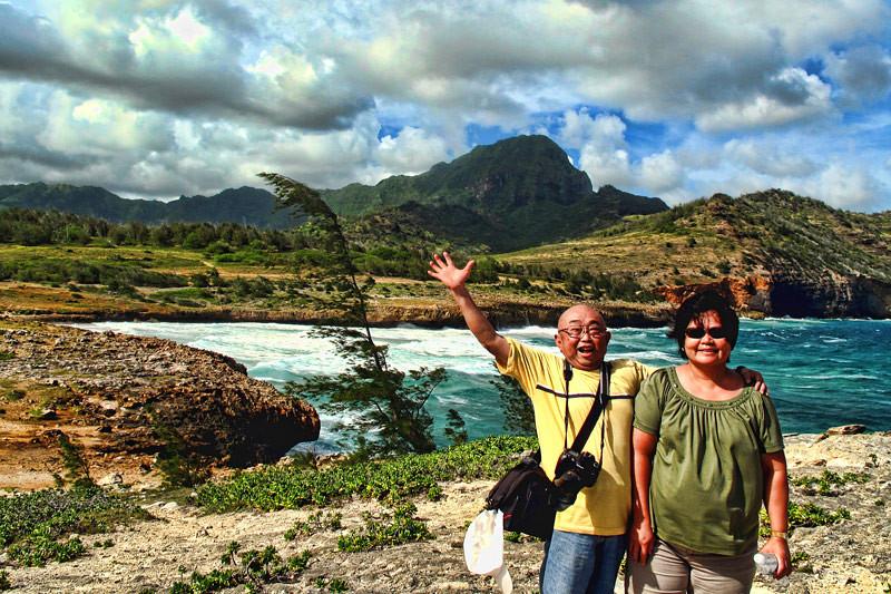 Mahaulepu coastline, an undeveloped area of Kauai Island, Hawaii Island group, USA.