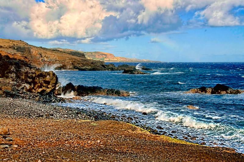 An undeveloped area at Kahalui coast, Maui, Hawaiian Island group, USA.