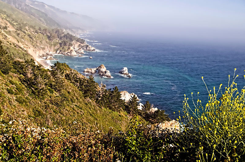 California's Pacific Coast at Big Sur area.