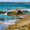Another view of the Pacific Coast at Julia Peiffer Burns State park in California, USA.