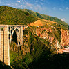 Another view of Bixby Bridge at Big Sur country, California, USA.