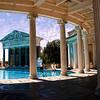 The exterior swimming pool at Hearst Castle, San Simeon, California, USA.