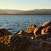 Sunset view of Lake Nahuel Huapi.