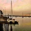 The sun just set on Moro Bay, California, USA.