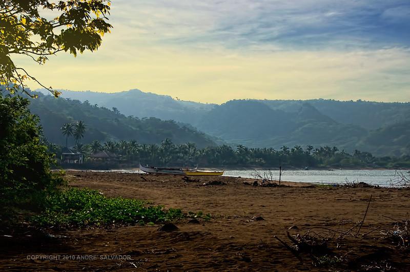 Calayo beach early in the morning