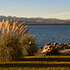 Sunset view from our first floor hotel room. View of Lake Nahuel Huapi, Barilochi, Patagonia, Argentina.