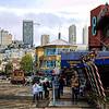 A view of Fisherman's wharf in San Francisco, California, USA.