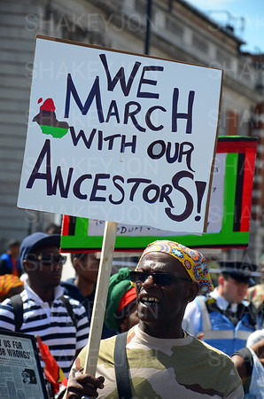 Afrika emancipation and reparation day march starts in Windrush Square.