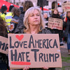 Parliament Square, Westminster, London, UK, Demonstrators opposite the Houses of Parliament as the State visit of President Donald Trump is debated.  - 20 February 2017