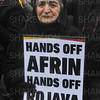 Kurds protest outside Downing Street against Turkish aggression in Afrin.