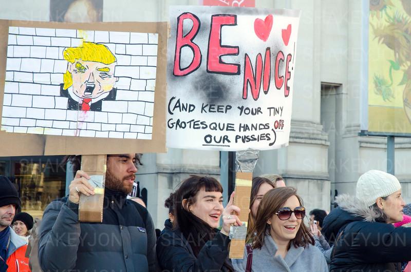 Women's march london following inauguration of President Trump.