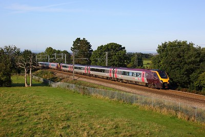 220027 leading 220018 on 1S37 0525 Plymouth to Newcastle at Lickey on 14 September 2020  CrossCountry, Class220, Voyager