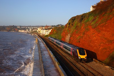 220006 on the 1M29 0702 Paignton to Manchester Piccadilly at Rockstone Bridge, Dawlish on the 18th April 2018