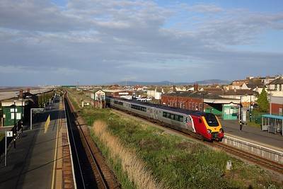 221114 solo on the 1D90 1750 Crewe to Holyhead at Abergele on the 4th May 2019