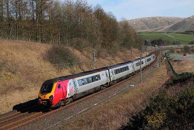 221113 on the 9M52 0851 Edinburgh to London Euston at Beck foot on the 24th March 2017