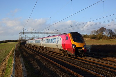 221112 on the 1A92 1303 Blackpool to London Euston at Cow Roast on the 1st January 2020