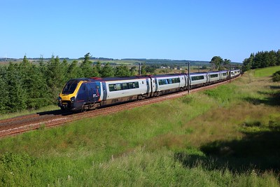 221102 leading 221101 work 9M52 0852 Edinburgh to London Euston at Auchengray on 15 July 2021  Class221, AvantiWestCoast, WCMLScotland, Voyager