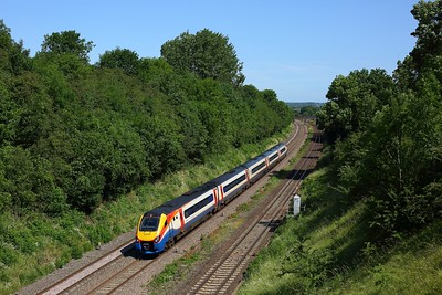 222009 works the 1C32 1000 Sheffield to St Pancras International at Thurmaston on 23 June 2020  EMR, Class222, MML, LeicestershireMML