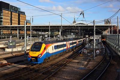 222020 working 1F62 1831 St Pancras International to Sheffield departing St Pancras on 15 May 2021  Class222, EMR, MMLLondon