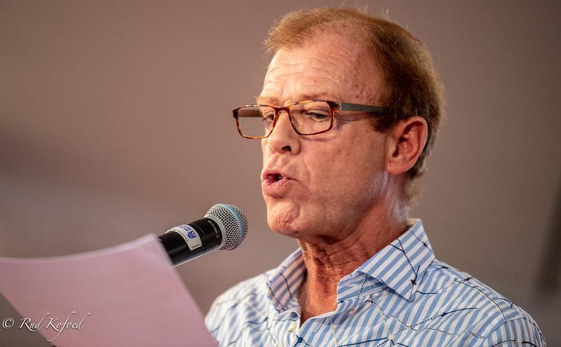 Cirkusprisdommer og konferencier ved uddelingen, skuespilleren Jan Hertz