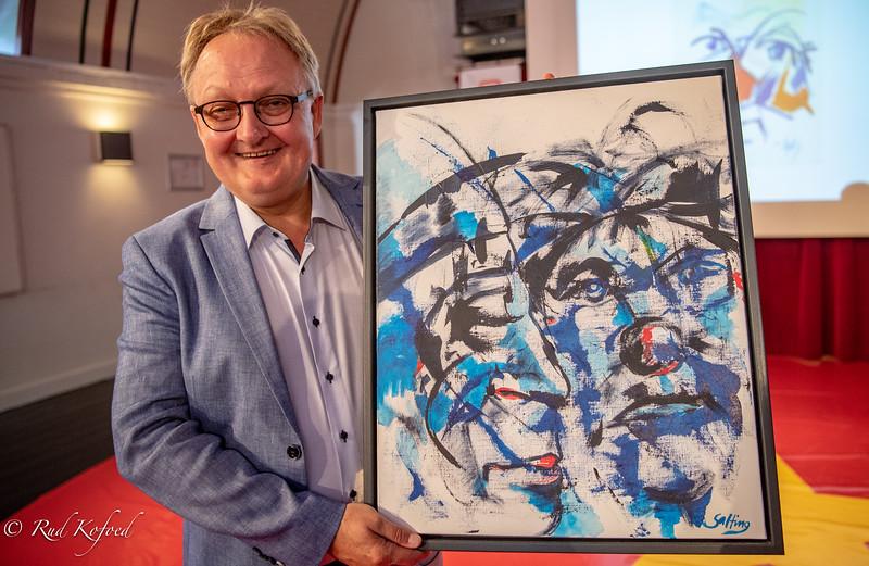 -Viggo Saltos maleri får hæderspladsen hjemme hos os, sagde Martin Arli