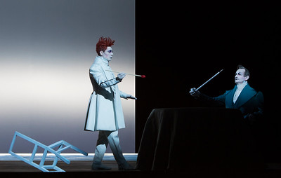Christian Friedel (Nathanael), Rainer Philippi (Father)  Photograph © Lucie Jansch