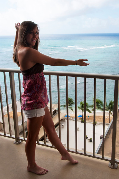 ANITA P celebrating her 20th Birthday ... 1st Morning in Hawaii ...Lucky Babe !