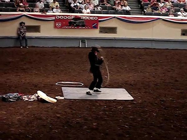 "Oklahoma City rodeo - Clown - Blues Brothers ""Soul Man"""