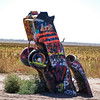 Cadillac Ranch - 10 Cadillacs, hood first, in the ground