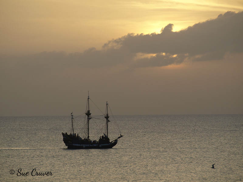 Pirate Ship at Dusk