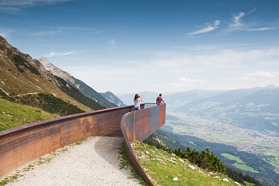 06 Perspektivenweg in der Nähe der Station Seegrube, Nordkette, Innsbruck