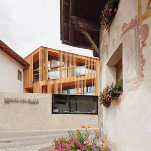 Ansitz zum Löwen mit Neubau, Burgeis (I)Architekt: Architekten Marx/Ladurner, SchlandersFoto: Jürgen Eheim, Brixen