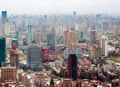 Blick über Shanghai vom Oriental Pearl TV Tower aus