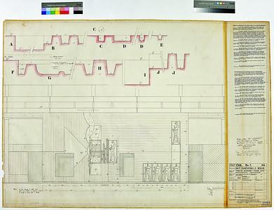 Unité d'Habitation Berlin. »Détails de coffrage de la façade ouest de la tour des ascenseurs«, 26. Oktober 1956. ©2014 FLC, VG Bild-Kunst, Bonn