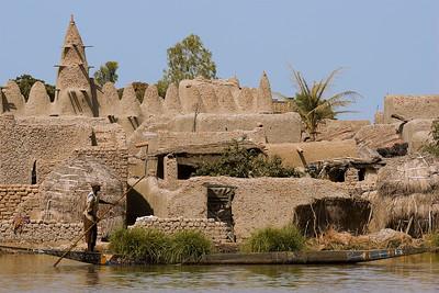 01 MALI, Mopti Region, Kolenze, banco Dorf am Niger Fluss