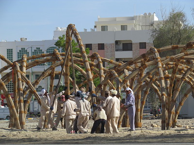 11 SABLA. Lebensmittellager aus Palmblättern. Al Ain, VAE