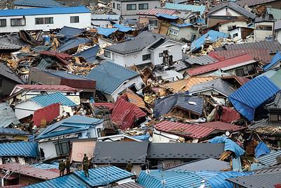 18 JAPAN. Miyako City nach dem Erdbeben und Tsunami von 2011