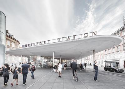19 Nørreport Station, Cobe, Gottlieb Paludan Architects, Completion: 2015