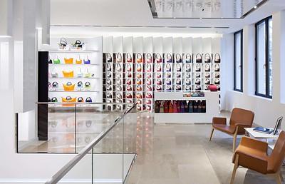 Longchamp, Flagshipstore MünchenGanter Interior@ Markus Traub