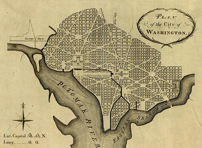 Plan von Washington, USA, von Pierre Charles l'Enfant, 1791.Library of Congress, Washington