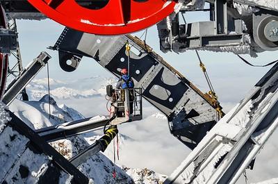 18 Baustelle der Seilbahn Zugspitze, Garmisch-Partenkirchen (D) 2017. Arge BauCon-Hasenauer-AIS