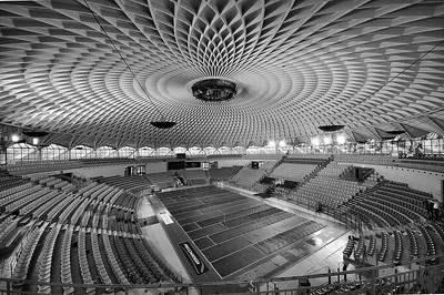 04 Palazetto dello Sport (kleiner Sportpalast), Rom (I) 1957, Pier Luigi Nervi, Architekt: Annibale Vitellozzi
