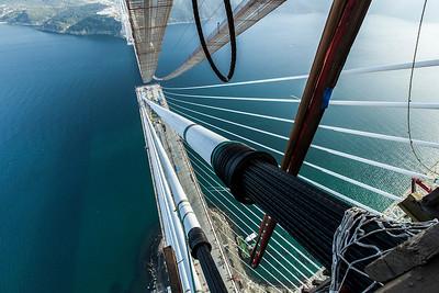 16 Bau der Yavuz-Sultan-Selim-Brücke, Istanbul (TR) 2016, Michel Virlogeux, Jean-François Klein