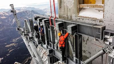 19 Baustelle der Seilbahn Zugspitze, Garmisch-Partenkirchen (D) 2017. Arge BauCon-Hasenauer-AIS